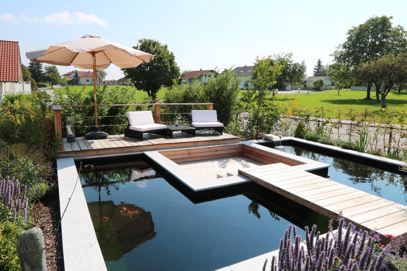 Teiche Biotope Gartenanlage Gartengestaltung Gartenbau Reischl