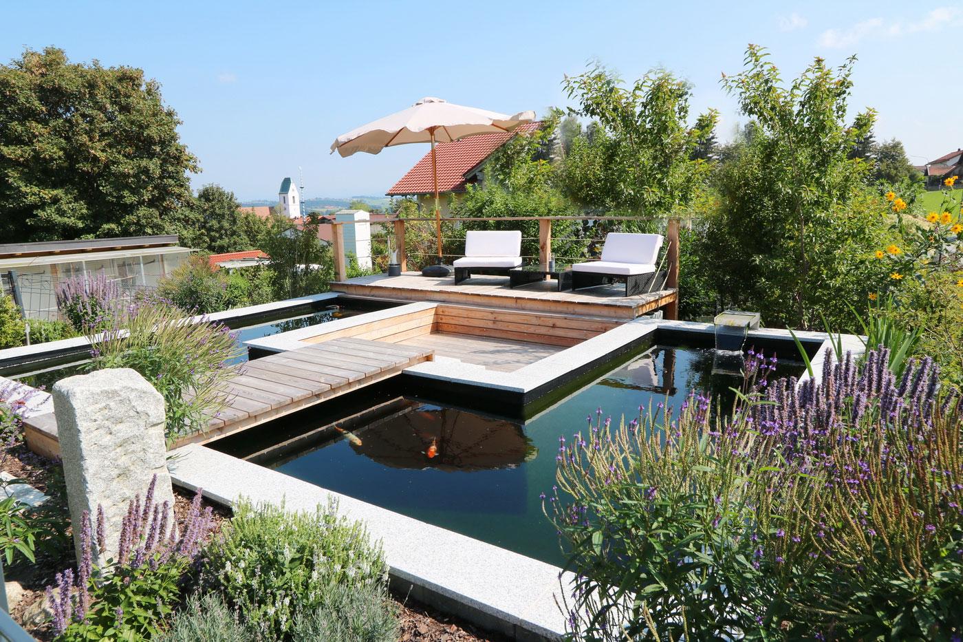 Teiche-Biotope-Gartenanlage - Gartengestaltung-Gartenbau-Reischl ...
