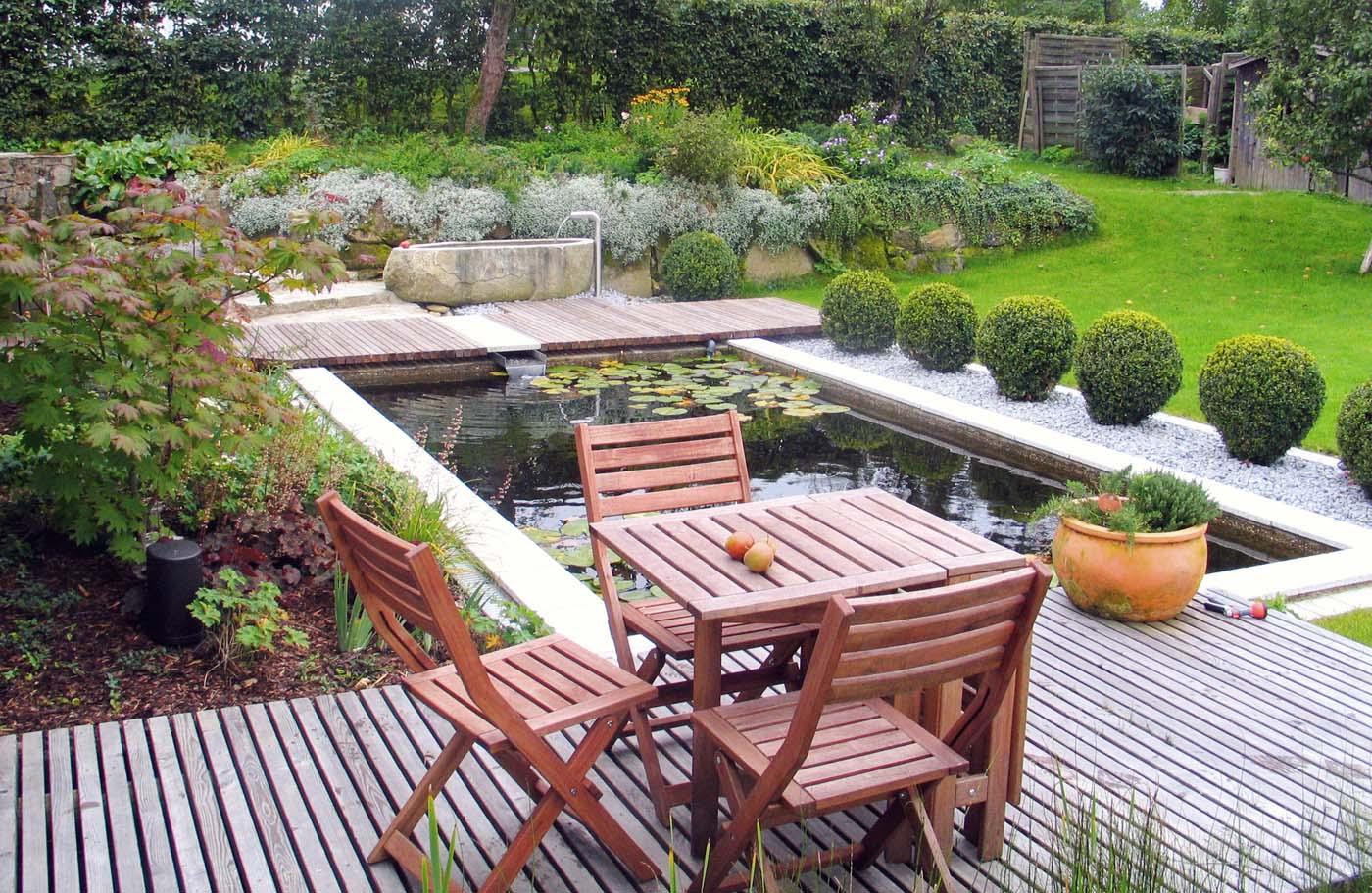 terrassen sitzplaetze holz gartengestaltung gartenbau reischl bayerischer wald. Black Bedroom Furniture Sets. Home Design Ideas